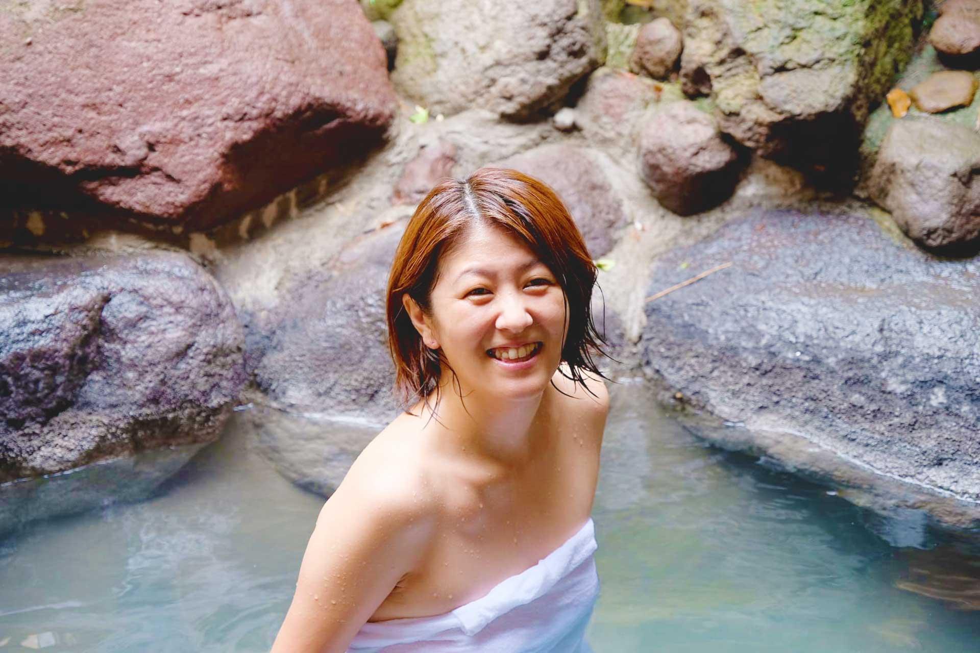 beauty and health guru at Beppu Onsen