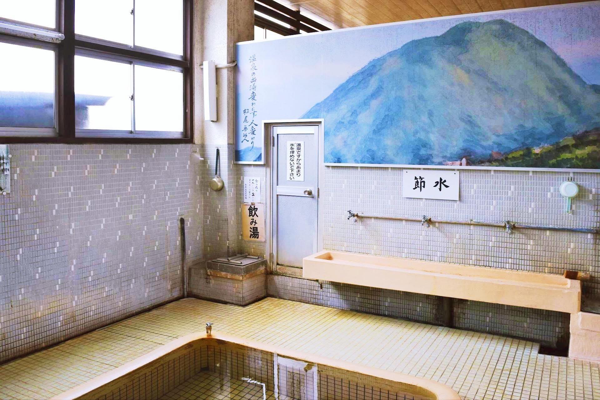 the mural at men's bath