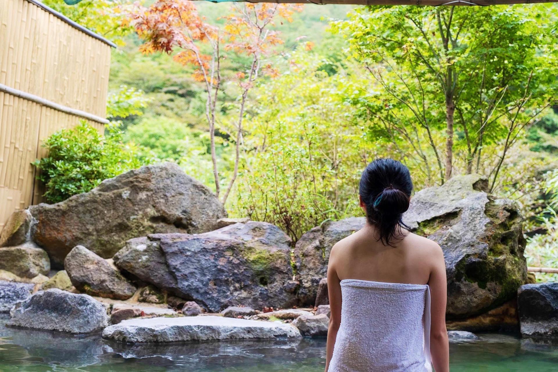 out door bath of Tsukahara onsen