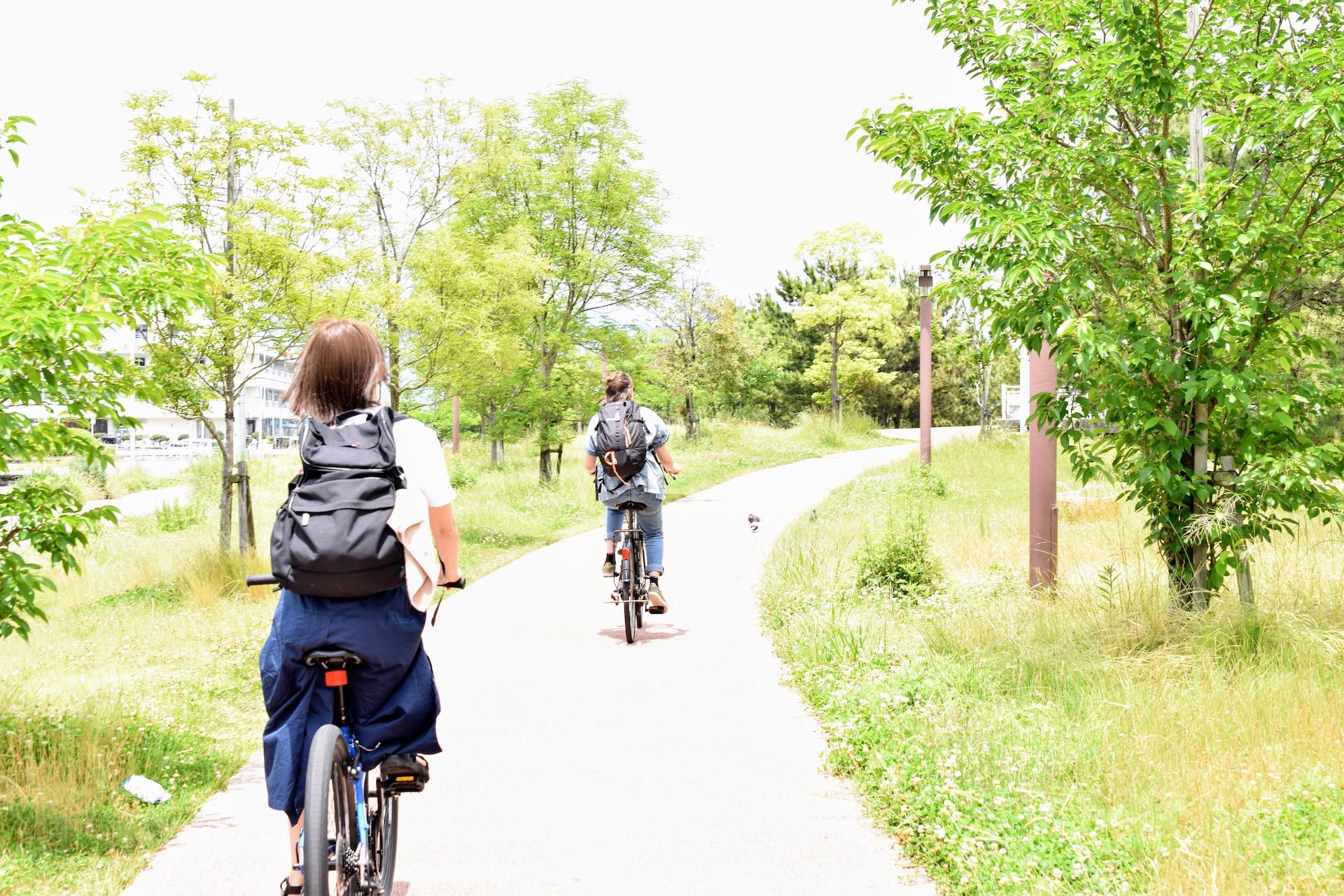 bicycling Beppu Onsen sand bath Kaihin Sunayu