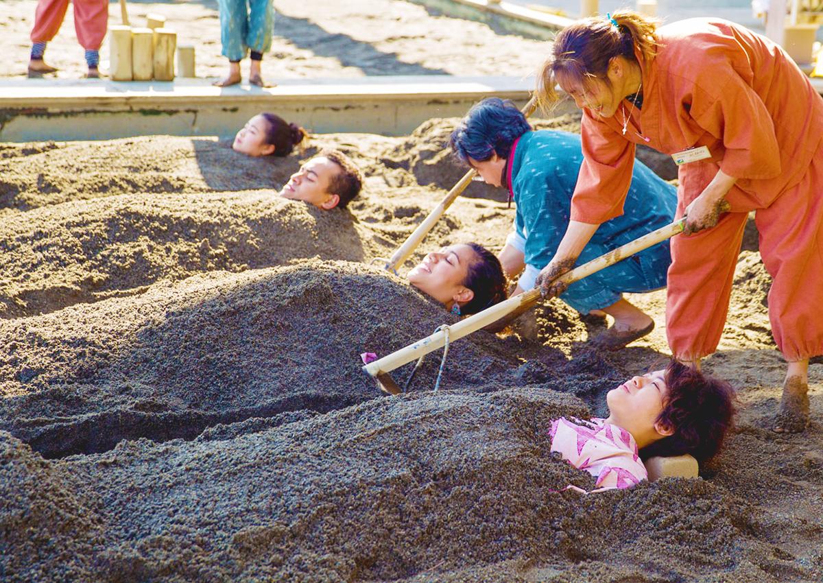Beppu Onsen sand bath Kaihin Sunayu
