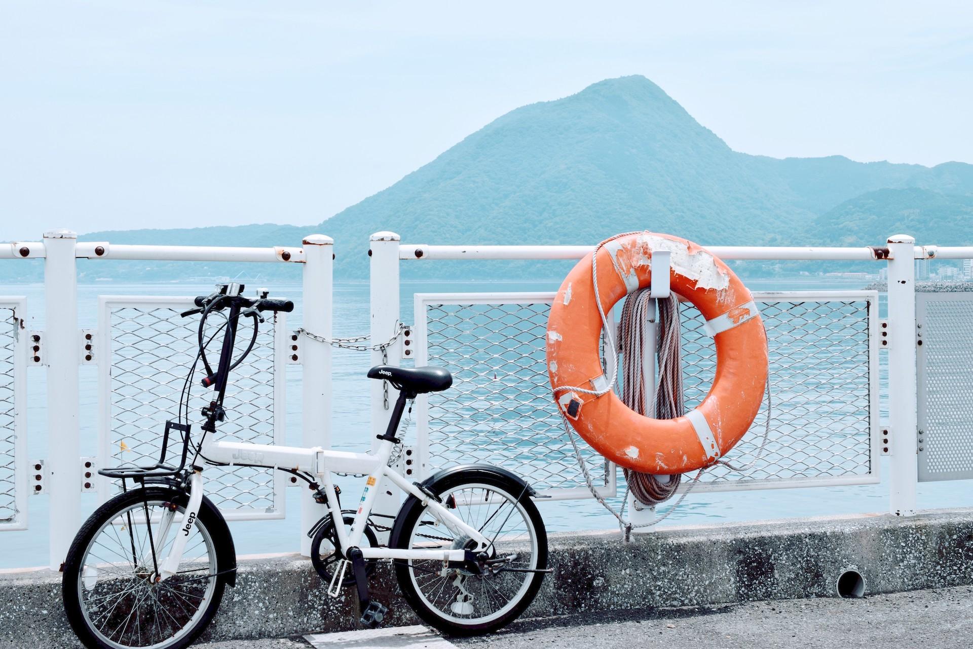 bicycle path Beppu Onsen sand bath Kaihin Sunayu