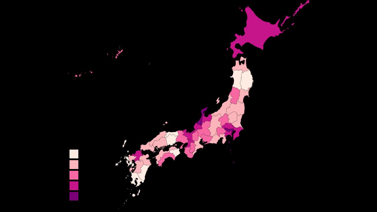japan coronavirus graph by prefecture