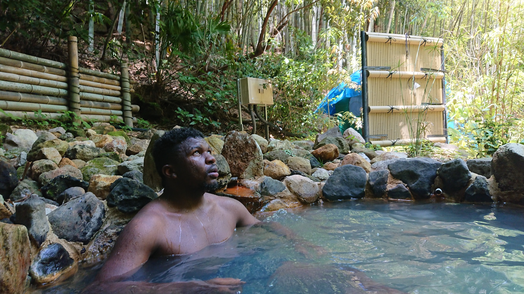 Man In Beppu Hot Springs