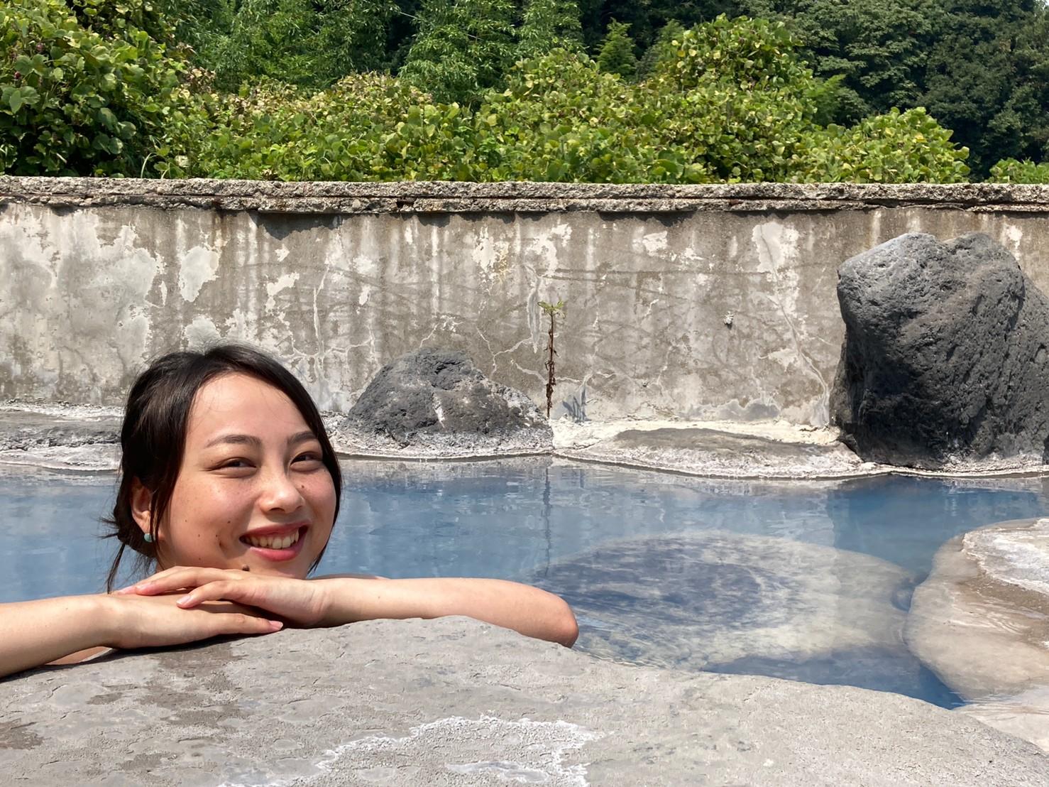 japanese woman beppu onsen