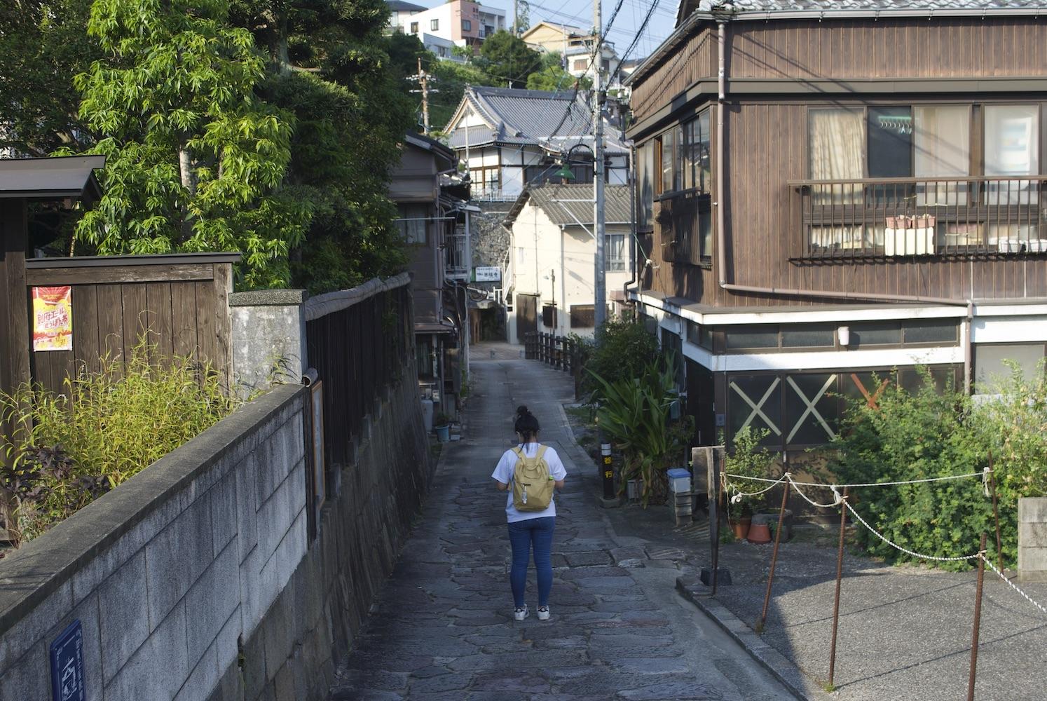 Beppu old street in Kannawa