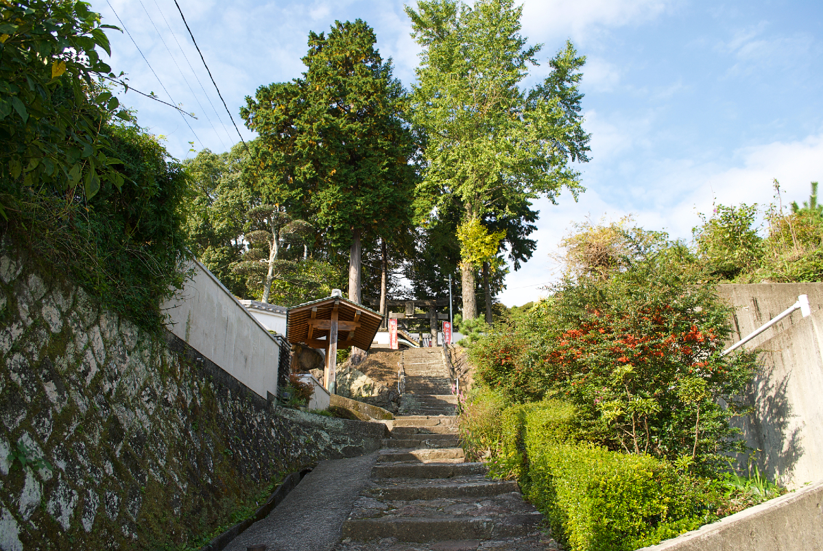 kamado shrine steps